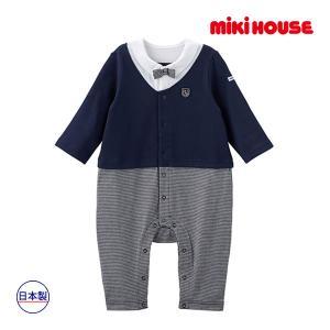 ミキハウス正規販売店/ミキハウス mikihouse 蝶ネクタイつきフォーマルウェア風カバーオール