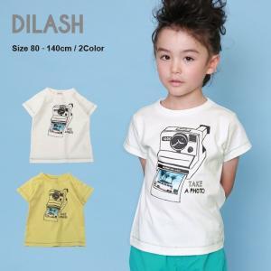 DIL正規販売店/ディラッシュ DILASH 転写プリントカメラ半袖Tシャツ(80cm・90cm・100cm・110cm・120cm・130cm・140cm)|attackone