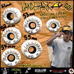 ランドシャーク ウィール 51, 52, 53, 54, 55mm サイドカット 101a|attacks