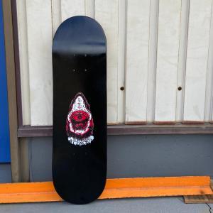【子供用・キッズサイズ・5〜7歳】スケートボードデッキ アタックス BLACK 7.625インチ|attacks