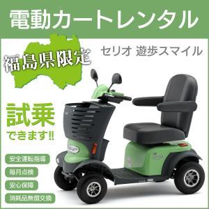 福島県内限定 免許不要 電動カートレンタル(1ヶ月)セリオ 遊歩スマイル