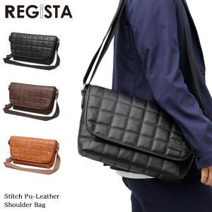 REGiSTA ショルダーバッグ 合皮 メンズ レディース カジュアル メッセンジャーバック レジスタ 斜め掛け 鞄 カバン かばん フェス attention-store