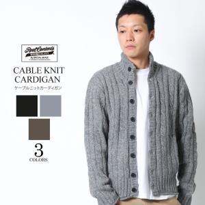 REALCONTENTS ニット セーター メンズ カーディガン ケーブルニット リアルコンテンツ ブラック グレー ストリート系 ファッション M L XL|attention-store
