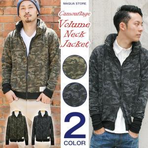 ジャケット メンズ 迷彩 ライトアウター ボリュームネック カモ アメカジ ストリート系 ファッション|attention-store