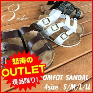男女兼用 サンダル コンフォートサンダル3連ベルト男女兼用|attention-store