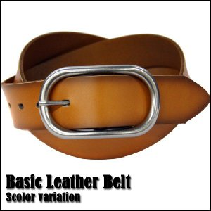 Basic Leather Belt / ベーシックレザーベルト|attention-store