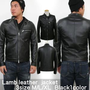 メンズ ジャケット レザージャケット ライダース シングルライダース ラムレザーシングルライダース|attention-store