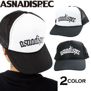 帽子 メンズ キャップ ASNADISPEC/アスナディスペック/プリントメッシュキャップ|attention-store