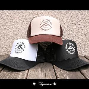 新作メッシュキャップ入荷♪夏定番のプリントMESH CAPです【ASNADISPEC】きれい目カジュアルストリート 【W GUN CAP】|attention-store