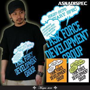 Tシャツ メンズ 半袖  プリント アスナディスペック ASNA ウエストポップロゴ ストリート系/3045/|attention-store
