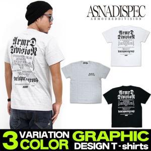 Tシャツ メンズ 半袖 プリント 迷彩 ストリート系 アスナディスペック ASNA オールドイングリッシュ メッセージ M L XL XXL/3045/|attention-store