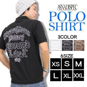 ポロシャツ 半袖 カノコポロシャツ メンズ アメカジ S M L XL XXL 3L 大きいサイズ ASNADISPEC アスナディスペック トップス 白 黒 夏 新作|attention-store