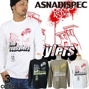 ロンT ストリート ブランド メンズ 長袖 Tシャツ プリント ASNADISPEC アスナディスペック ロゴ 大きいサイズ /3045/|attention-store