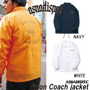 コーチジャケット ナイロン ナイロンコーチジャケット メンズ レディース ASNADISPEC/アスナディスペック|attention-store