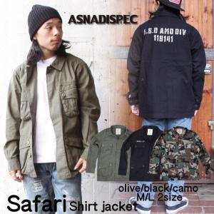 サファリジャケット ミリタリージャケット メンズ ジャケット 男女兼用 ASNADISPEC/アスナディスペック|attention-store