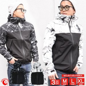 メンズ ジャケット マウンテンパーカー マーブル切替マンパ ASNADISPEC/アスナディスペック|attention-store