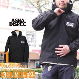 マウンテンパーカー メンズ ジャケット ワッペン 男女兼用 マンパ ブラック BLACK ASNADISPEC ストリート系 ファッション M L XL|attention-store