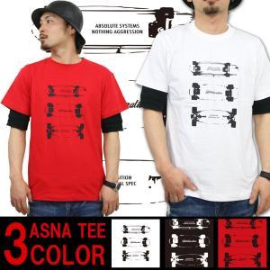 Tシャツ メンズ アスナディスペック ASNADISPEC スケートグラフィック 半袖 プリント メンズカジュアル M L XL XXL ストリート系 ファッション /3045/|attention-store