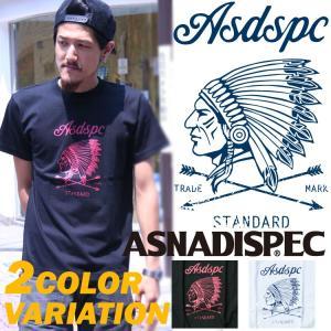 インディアン Tシャツ メンズ アスナディスペック 半袖Tシャツ カジュアル M L XL XXL/ ストリート系 ファッション|attention-store