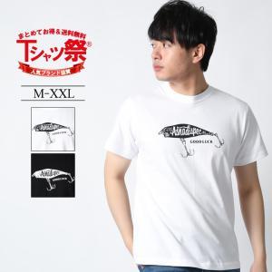 ASNADISPEC Tシャツ メンズ 半袖 ティーシャツ TEE アスナディスペック 釣り ルアー フィッシング柄 プリント ブランド 人気 B系 /3045/|attention-store