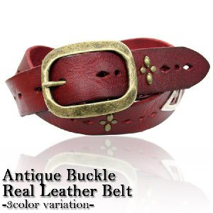 Antique Buckle Real Leather Belt / リアルレザーベルト|attention-store