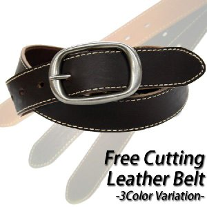 Free Cutting Leather Belt / リアルレザーベルト|attention-store
