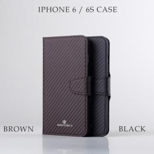 IPhoneケース ビジネス 手帳型 IPhone6 IPhone6s 本革 イタリア製 カーボンレザー attention-store