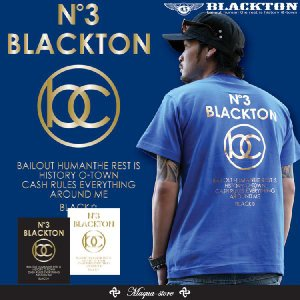 Tシャツ メンズ 半袖 ブランド ブラクトン BLACKTON ストリート 黒 白 ダンス B系 大きいサイズ XL XXL プリント ロゴ /3045/|attention-store