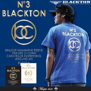 Tシャツ メンズ 半袖 ブランド おしゃれ ストリート系 ロゴt 黒 白 M L XL XXL 3L BLACKTON ブラクトン /3045/|attention-store