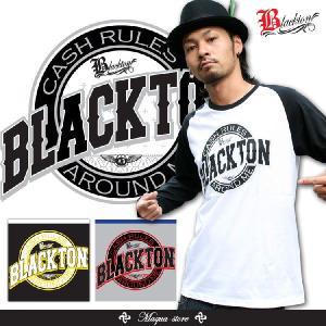 ロンT ストリート ブランド メンズ 長袖 Tシャツ プリント BLACKTON ブラクトン ロゴ 大きいサイズ /3045/|attention-store