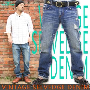 デニムパンツ ジーパン セルビッチ 赤耳 ブラクトン アメカジ ストリート系 ファッション|attention-store