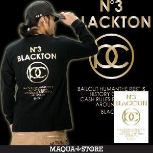 ロンT ストリート ブランド メンズ 長袖 Tシャツ プリント BLACKTON ブラクトン ロゴ 大きいサイズ 2017 春 新作 /3045/|attention-store