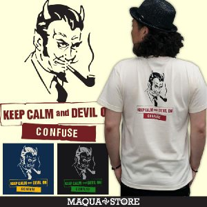 Tシャツ/半袖プリント/CONFUSE/コンフューズ/DEVILON半袖Tシャツ/3045/ attention-store