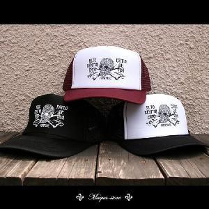 メッシュキャップ メンズ CAP CONFUSE ストリート SKULL CAP|attention-store