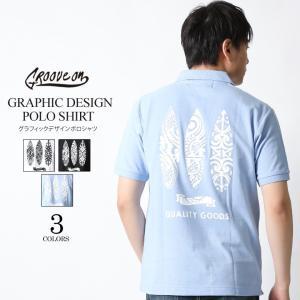ポロシャツ メンズ 半袖 ポロシャツ カノコ ポロシャツ GROOVEON グルーブオン アメカジ ワーク サーフ ストリート系 ファッション M L XL XXL|attention-store
