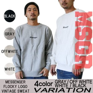 MSGR LOGO VINTAGE SWEATメンズ メッセンジャー|attention-store