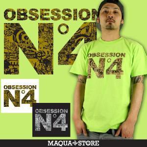 Tシャツ メンズ 半袖 プリント ロゴ OBSESSION オブセッション アメカジ ストリート系 ファッション 大きいサイズ /3045/|attention-store