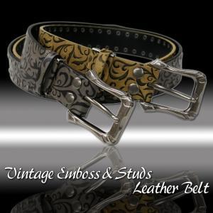 Vintage EmbossStuds Belt/エンボススタッズベルト|attention-store