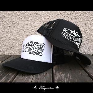 帽子 メンズ キャップ プリントメッシュキャップ リアルコンテンツ ストリート|attention-store