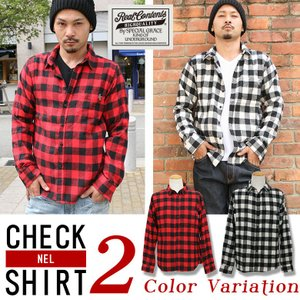 シャツ メンズ チェックシャツ カジュアルシャツ ネルシャツ 長袖シャツ ブロックチェック REALCONTENTS ストリート系 M L XL XXL 大きいサイズ|attention-store