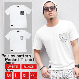 メンズ ポケット付き 半袖 ポケットペイズリー半袖TEE リアルコンテンツ/REALCONTENTS attention-store