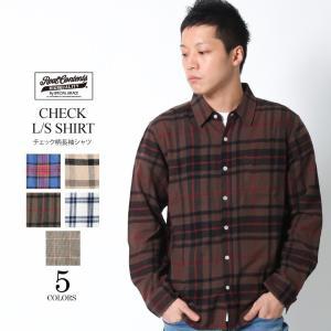 チェックシャツ トップス カジュアルシャツ 長袖シャツ コットンシャツ メンズ ブランド REALCONTENTS リアルコンテンツ M L XL XXL 大きいサイズ|attention-store