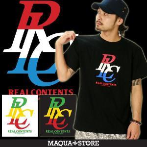 Tシャツ メンズ 半袖 ブランド リアルコンテンツ REALCONTENTS ストリート 黒 白 ダンス 大きいサイズ XL XXL プリント ロゴ /3045/|attention-store