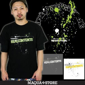 Tシャツ/半袖プリント/REALCONTENTS/リアルコンテンツ/ペイントアート柄半袖Tシャツ/3045/|attention-store