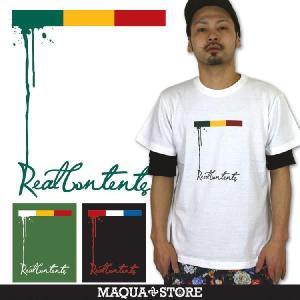 Tシャツ メンズ 半袖 ブランド リアルコンテンツ REALCONTENTS ストリート 黒 白 ダンス 大きいサイズ XL XXL プリント ロゴ /3045/ attention-store