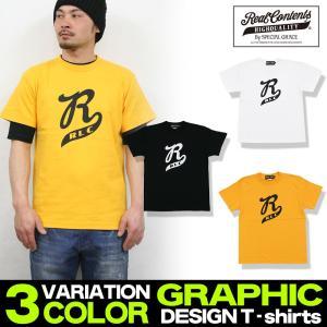 Tシャツ メンズ 半袖 ティーシャツ リアルコンテンツ 大きいサイズ 人気 アメカジ ストリート系 ファッション /3045/|attention-store