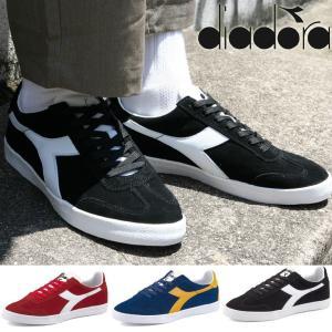 DIADORA ディアドラ B.ORIGINAL VLZ  B.オリジナルVLZ スニーカー 靴 シューズ スエード 黒 ブラック ブルー レッド|attention-store