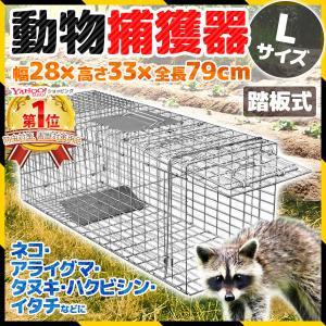 アニマルトラップ 猫 箱罠 捕獲器 捕獲 ネコ 野良猫 踏み板 捕獲機 ペット 動物捕獲器 ハクビシ...