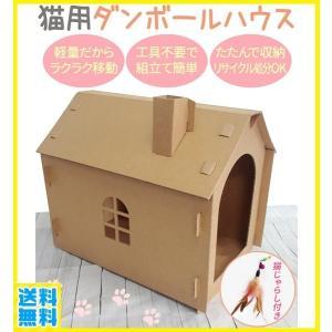 猫が大好きな『暗くて狭く、身を隠せる』ダンボールハウス  猫は生活空間の中にダンボール箱があると ス...