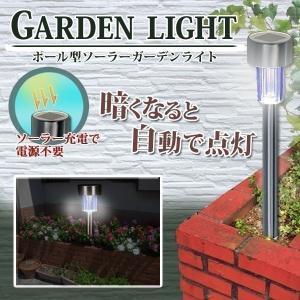 花壇や庭、玄関先やエントランスなどを明るく照らすソーラーライト 柔らかい光を放つライトは、夜の暗い道...